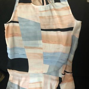Vince Camuto silk multi colored sleeveless top